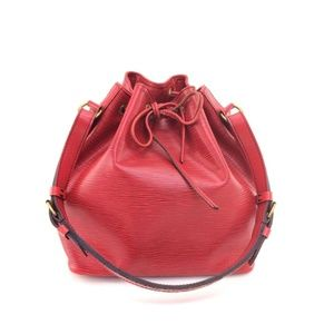 Louis Vuitton Red Epi Petit Noe Hobo 19381